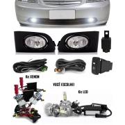 Kit Farol de Milha Neblina Honda Civic 2001 2002 2003 2004 - Botão painel + Kit Xenon 6000K / 8000K ou Kit Lâmpada Super LED 6000K
