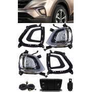 Kit Farol de Milha Neblina Hyundai Creta 2020 LED DRL PCD Attitude Smart - Lâmpada Halógena
