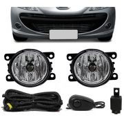 Kit Farol de Milha Neblina Peugeot 207 Hatch - Interruptor Alternativo
