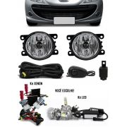 Kit Farol de Milha Neblina Peugeot 207 Sedan Passion + Kit Xenon 6000K / 8000K ou Kit Lâmpada Super LED 6000K
