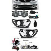 Kit Farol de Milha Neblina Renault Logan 2015 2016 2017 2018 2019 + Kit Xenon 6000K 8000K ou Kit Lâmpada Super LED 6000K