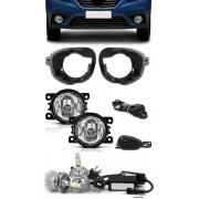 Kit Farol de Milha Neblina Renault Logan 2019 2020 2021 - Interruptor de Alternativo + Kit Lâmpada Super LED 6000K