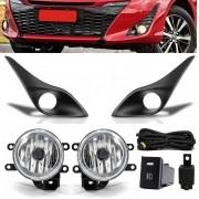 Kit Farol de Milha Neblina Toyota Yaris Com Moldura - Interruptor Modelo Original