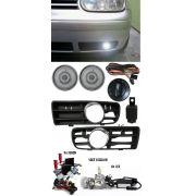 Kit Farol de Milha Neblina Vw Golf 1999 á 2006 + Kit Xenon 6000K / 8000K ou Kit Lâmpada Super LED 6000K