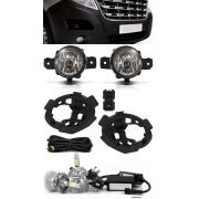 Kit Farol de Milha Renault Master 2015 á 2020 – Com Moldura e Botão Painel + Kit Lâmpada Super LED 6000k