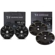 "Kit MB600 + MB690 Hurricane 1 Par 6"" + 6x9"" Som Automotivo"