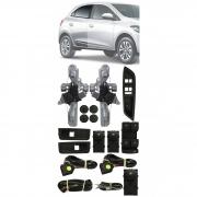 Kit Vidro Elétrico GM Onix e Novo Prisma Original 4 Portas Traseiro Sensorizado