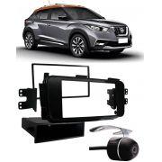 Moldura De Painel 1 Din e 2 Din Nissan Kicks Para Cd Dvd 1 Din e 2 Dins - Padrão Original + Câmera de Ré