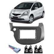 Moldura De Painel 2 Din Honda New Fit 2009 2010 2011 2012 2013 Para CD DVD 2 Dins + Conector