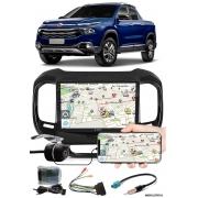 """Multimídia 9"""" Polegadas Fiat Toro Espelhamento USB Bluetooth + Moldura Painel + Interface Volante + Chicotes + Câmera de Ré"""