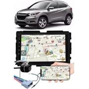 """Multimídia 9"""" Polegadas Honda HRV Espelhamento USB Bluetooth + Moldura Painel + Chicotes + Câmera de Ré"""