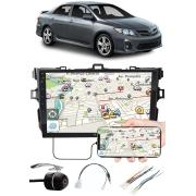 """Multimídia 9"""" Polegadas Toyota Corolla 2009 à 2014 Espelhamento USB Bluetooth + Moldura Painel + Chicotes + Câmera de Ré"""