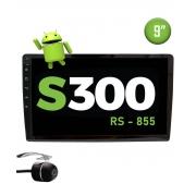 "Multimídia Android S300 9"" TV FULL HD + Câmera Borboleta"
