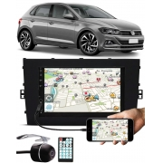 Multimídia E-Tech Vw Novo Polo 2018 2019 2020 Bluetooth Espelhamento Android IOS + Câmera Ré