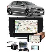 Multimídia E-Tech Vw Novo Polo 2018 2019 2020 Bluetooth Espelhamento Android IOS Interface Comando Volante + Câmera Ré