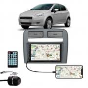 Multimídia Fiat Punto 2008 2009 2010 2011 2012 Espelhamento Bluetooth USB SD Card + Moldura + Câmera Borboleta