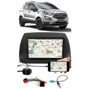 Multimídia Ford Ecosport 2018 2019 2020 2021 Espelhamento Bluetooth USB SD Card + Moldura + Chicotes + Câmera Ré