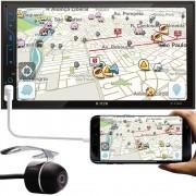 """Multimídia H-Tech HT-3120X 7"""" Polegadas Espelhamento Android iPhone IOS Bluetooth USB SD Card + Câmera Ré"""
