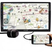"""Multimídia H-Tech HT-9020 Tela 9"""" Polegadas Espelhamento Bluetooth USB + Câmera de Ré"""