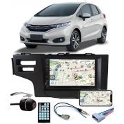 Multimídia Honda Fit 2015 2016 2017 2018 2019 2020 2021 Espelhamento Bluetooth USB SD Card + Moldura + Câmera Borboleta + Chicote + Adaptador de Antena