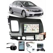 Multimídia Honda New Civic 2007 à 2011 Espelhamento Bluetooth USB SD Card + Interface Volante + Moldura + Chicotes + Câmera Ré