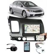 Multimídia Honda New Civic 2007 à 2011 Espelhamento Bluetooth USB SD Card + Moldura + Chicotes + Câmera Ré