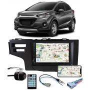 Multimídia Honda WR-V Espelhamento Bluetooth USB SD Card + Moldura + Câmera Borboleta + Chicote + Adaptador de Antena