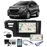 Multimídia Honda WR-V Espelhamento Bluetooth USB SD Card + Moldura + Câmera Borboleta + Chicote + Adaptador de Antena + Interface