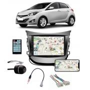 Multimídia Hyundai Hb20 Hb20X Hatch/Sedan até 2019 Espelhamento Bluetooth USB SD Card + Moldura + Câmera Borboleta + Chicote + Adaptador de Antena