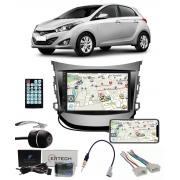 Multimídia Hyundai Hb20 Hb20X Hatch/Sedan até 2019 Espelhamento Bluetooth USB SD Card + Moldura + Câmera Borboleta + Chicote + Adaptador de Antena + Interface de Volante