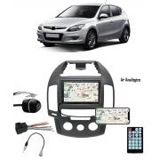 Multimídia Hyundai I30 Hatch I30SW 2009 até 2012 Espelhamento Bluetooth USB SD Card + Moldura Ar Analógico + Câmera Borboleta + Chicote + Adaptador de Antena