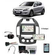 Multimídia Hyundai I30 Hatch I30sw 2009 até 2012 Espelhamento Bluetooth USB SD Card + Moldura Ar Analógico + Câmera Borboleta + Chicote + Adaptador de Antena + Interface de Volante