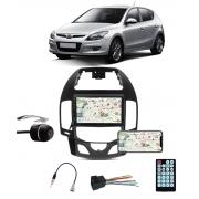 Multimídia Hyundai I30 Hatch I30SW 2009 até 2012 Espelhamento Bluetooth USB SD Card + Moldura Ar Digital+ Câmera Borboleta + Chicote + Adaptador de Antena