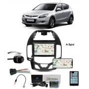 Multimídia Hyundai I30 Hatch I30SW 2009 até 2012 Espelhamento Bluetooth USB SD Card + Moldura Ar Digital + Câmera Borboleta + Chicote + Adaptador de Antena + Interface de Volante