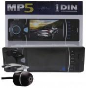 """Multimídia MP5 1 Din E-Tech 4"""" Polegadas Bluetooth USB + Câmera de Ré"""