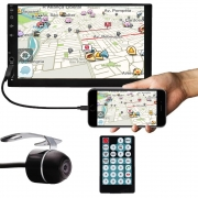 """Multimídia MP5 2 Din 7"""" Polegadas Espelhamento USB Bluetooth E-Tech"""