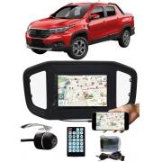 """Multimídia MP5 Fiat Strada 2020 2021 7"""" Polegadas Espelhamento Bluetooth USB SD Card + Interface Volante + Câmera de Ré"""