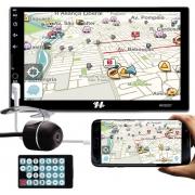 Multimídia MP5 Hurricane HR5007 Espelhamento Bluetooth USB SD Card + Câmera de Ré