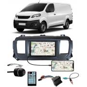 Multimídia Peugeot Expert 2018 em Diante Espelhamento Bluetooth USB SD Card + Moldura + Câmera Borboleta + Chicote + Adaptador de Antena