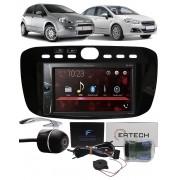 Multimídia Pioneer DMH-G228BT Fiat Punto 2012 à 2016 Linea 2015 à 2017 Interface Comando Volante + Câmera Ré
