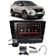 Multimídia Pioneer DMH-G228BT Hyundai Creta Bluetooth USB + Moldura + Interface Volante + Chicotes + Câmera Ré
