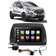 Multimídia Pioneer DMH-ZS5280TV Ford Ecosport 2018 2019 2020 2021 Bluetooth TV Digital USB + Moldura + Chicotes + Câmera Ré