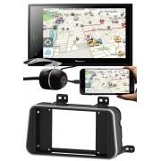 """Multimídia Pioneer Nissan Kicks DMH-ZS8280TVN 8"""" Polegadas TV Digital Bluetooth USB Moldura + Câmera Ré"""