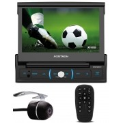 "Multimídia Positron Retrátil SP6730DTV 1 Din 7"" Polegadas TV Digital Integrada USB Bluetooth Espelhamento Android SD Card + Câmera de Ré"