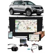 Multimídia Vw T-Cross PCD E-Tech Bluetooth Espelhamento Android IOS Interface Comando Volante + Chicotes + Câmera Ré