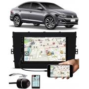 Multimídia Vw Virtus E-Tech Bluetooth Espelhamento Android IOS + Câmera Ré