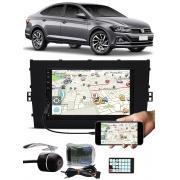 Multimídia Vw Virtus E-Tech Bluetooth Espelhamento Android IOS Interface Comando Volante + Câmera Ré