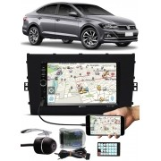 Multimídia Vw Virtus Tiger Bluetooth Espelhamento Android IOS Interface Comando Volante + Câmera Ré