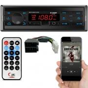 Rádio MP3 H-Tech HT-1022 Bluetooth USB SD Card Auxiliar
