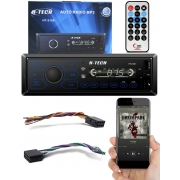 Rádio MP3 H-Tech HT-2120 Bluetooth USB SD Card